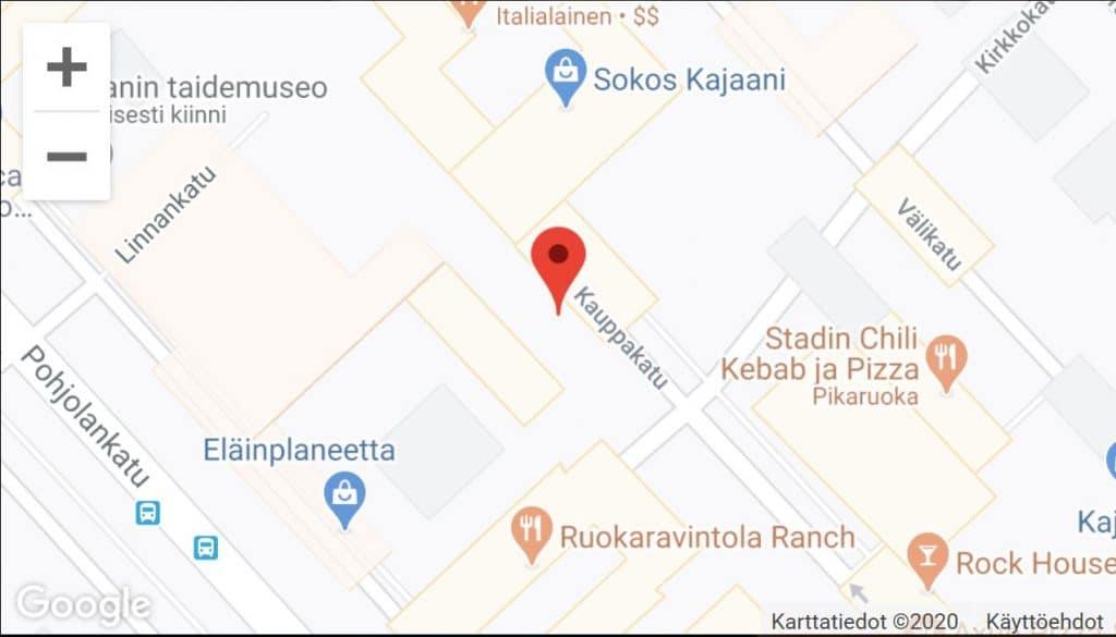 ATK-Huolto kartalla Kajaanissa